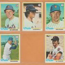 1978 Topps New York Mets Team Lot 15 Lee Mazzilli Bud Harrelson Craig Swan Doug Flynn