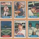 1982 Fleer Cleveland Indians Team Lot 26 Joe Charboneau Mike Hargrove Andre Thornton Toby Harrah