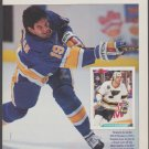 St Louis Blues Brendan Shanahan Blasting A Slap Shot 1993 Pinup Photo