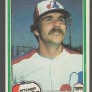 Montreal Expos Steve Rogers 1981 Topps Baseball Card 725 ex mt