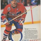Montreal Canadiens Kirk Muller On The Back Check 1993 Pinup Photo 8x10