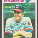 Texas Rangers Gaylord Perry 1977 Topps Baseball Card 152 ex