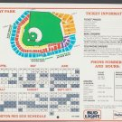 1985 Boston Red Sox Schedule Fenway Park Seating Plan Price Chart 8x10