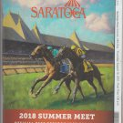 Saratoga Race Course 2018 Program w/ Monmouth Park and Del Mar