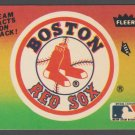 1983 Fleer Boston Red Sox Team Logo Sticker Baseball Card nr mt