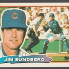 Chicago Cubs Jim Sundberg 1988 Topps Big Baseball Card 100 nr mt