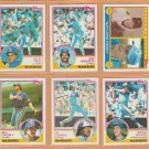 1983 Topps Seattle Mariners Team Lot 28 Gaylord Perry Bruce Bochte Julio Cruz +