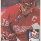 Detroit Red Wings Steve Yzerman Toronto Maple Leafs Doug Gilmour 1993 Pinup Photos 8x10