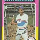 Texas Rangers Leo Cardenas 1975 Topps Baseball Card 518 ex/em