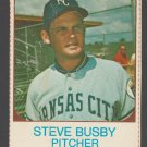 Kansas City Royals Steve Busby 1975 Hostess Baseball Card # 124