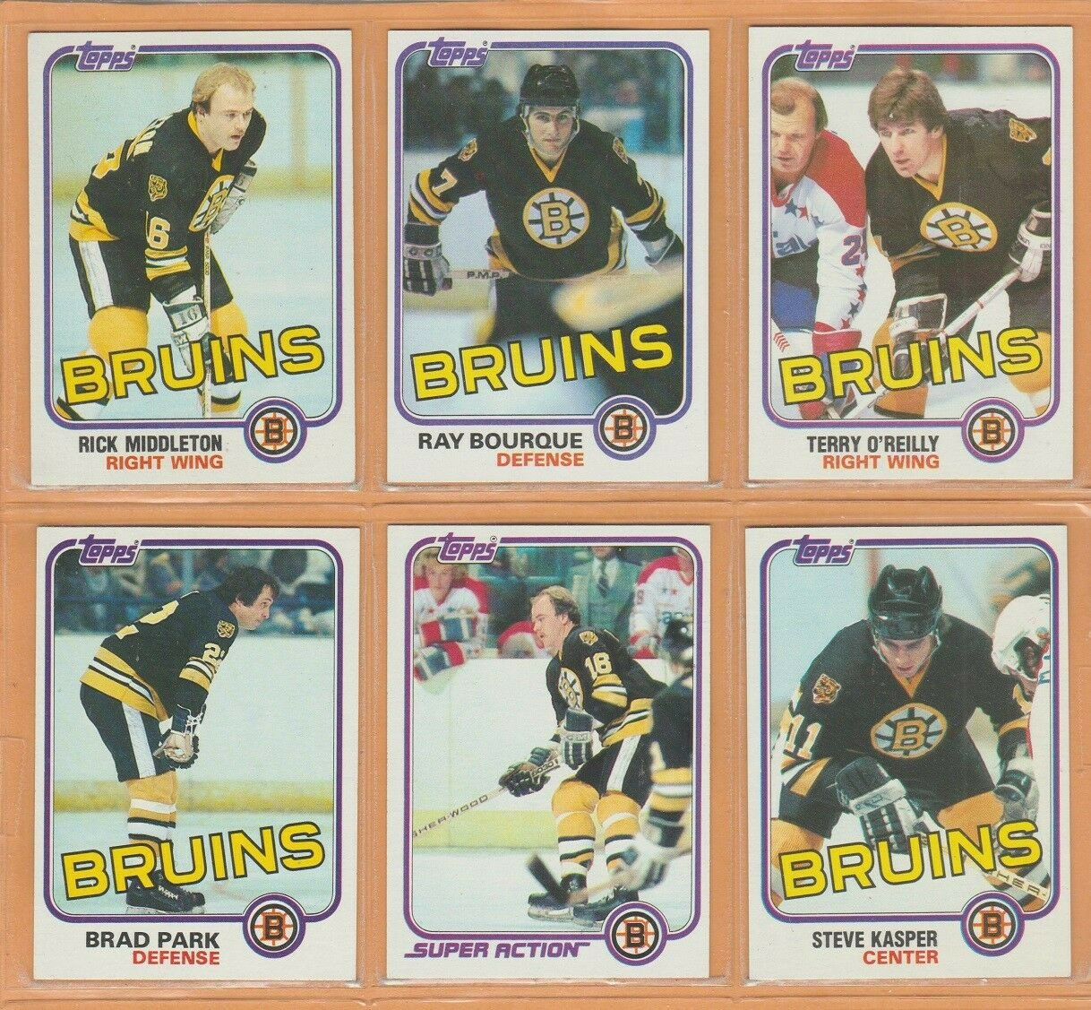 Boston Bruins 1981 Team Lot Ray Bourque Brad Park Terry O'Reilly Rick Middleton Steve Kasper RC