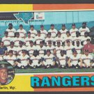 Texas Rangers Team Card w/ Billy Martin 1975 Topps Baseball Card 511 marked checklist