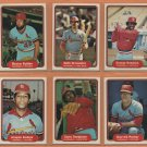 1982 Fleer St Louis Cardinals Team Lot 23 Keith Hernandez Bruce Sutter George Hendrick Bob Forsch