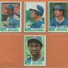 1981 1982 1983 Topps Atlanta Braves Team Lot Hank Aaron Dale Murphy Phil Niekro +