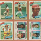 1980 Topps Houston Astros Team Lot Cesar Cedeno Jose Cruz Jeff Leonard RC JR Richard