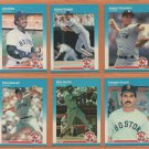 1987 Fleer Boston Red Sox Team Lot 24 Roger Clemens Jim Rice Wade Boggs Tom Seaver +