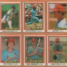 1981 1982 1983 1984 Donruss St Louis Cardinals Team Lot Bruce Sutter George Hendrick Jim Kaat +