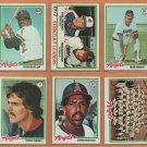 1978 Topps California Angels Team Lot Nolan Ryan Bob Grich Don Baylor Lyman Bostock
