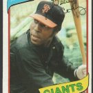 San Francisco Giants Willie McCovey 1980 Topps Baseball Card 335 ex/nm