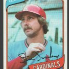 St Louis Cardinals Steve Swisher 1980 Topps Baseball Card 163 nr mt