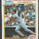 Boston Red Sox Wade Boggs 1986 Drakes Big Hitters Baseball Card 27