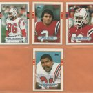 1989 Topps New England Patriots Team Lot 8 diff Doug Flutie Andre Tippet Stanley Morgan +