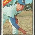 Los Angeles Dodgers Joe Moeller 1966 Topps Baseball Card 449 vg/ex