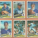 1984 1985 Topps Kansas City Royals Team Lot George Brett Dan Quisenberry Frank White Amos Otis