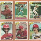 1980 Topps Philadelphia Phillies Team Lot 20 diff Mike Schmidt Pete Rose Steve Carlton Garry Maddox