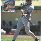 Cleveland Indians David Justice Swatting A Line Drive 1997 Pinup Photo 8x10