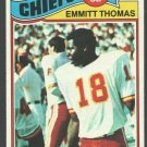 Kansas City Chiefs Emmitt Thomas 1977 Topps Football Card 129 ex/em