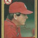 St Louis Cardinals John Tudor Autograph Signed 1987 Topps Baseball Card 110