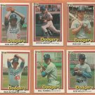 1981 1982 1983 1984 Donruss Los Angeles Dodgers Team Lot 31 Steve Garvey Bill Russell Don Sutton +