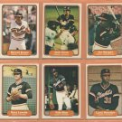 1982 Fleer San Francisco Giants Team Lot 22 diff Jack Clark Joe Morgan Darrell Evans Vida Blue