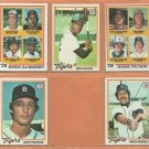 1978 Topps Detroit Tigers Team Lot 13 dif Jack Morris RC Lou Whitaker RC Mickey Stanley Steve Kemp