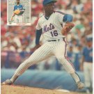 New York Mets Dwight Gooden Doc Gooden Throwing Heat 1988 Pinup Photo 8x10