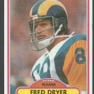Los Angeles Rams Fred Dryer 1980 Topps Football Card 202 vg/ex