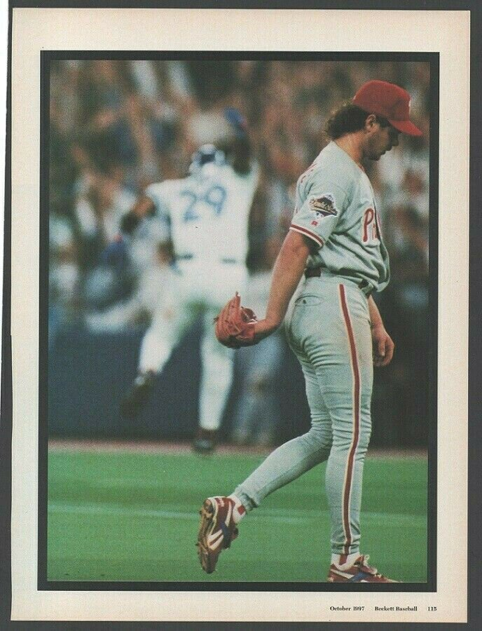 Philadelphia Phillies Mitch Williams Walking Dejectedly From the Mound 1997 Pinup Photo 8x10