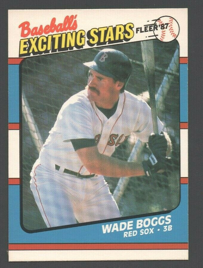 Boston Red Sox Wade Boggs 1987 Fleer Exciting Stars Baseball Card 4 nr mt