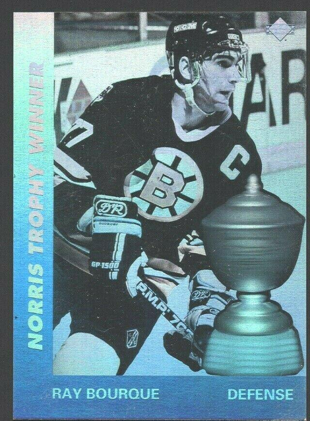 Boston Bruins Ray Bourque 1991 Upper Deck Hologram Insert AW5 nr mt