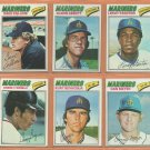 1977 Topps Seattle Mariners Team Lot Inaugural Year 16 diff Dave Collins Glenn Abbot Kurt Bevacqua