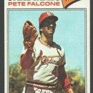 St Louis Cardinals Pete Falcone 1977 Topps Baseball Card 205 em+/nm