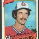 Atlanta Braves Larry McWilliams 1980 Topps Baseball Card 309 nr mt