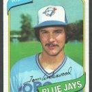 Toronto Blue Jays Tom Underwood 1980 Topps Baseball Card 324 nr mt