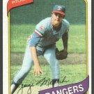 Texas Rangers George Medich 1980 Topps Baseball Card 336 nr mt