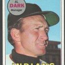 Cleveland Indians Alvin Dark 1969 Topps Baseball Card 91 ex+/em