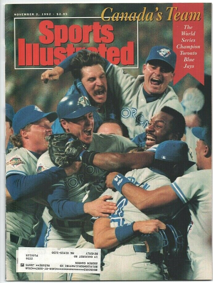 1992 Sports Illustrated Toronto Blue Jays World Series New England Patriots Jayhawks Stanford