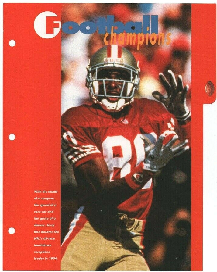 San Francisco 49ers Jerry Rice Hauling In Another Catch 1995 Pinup Photo