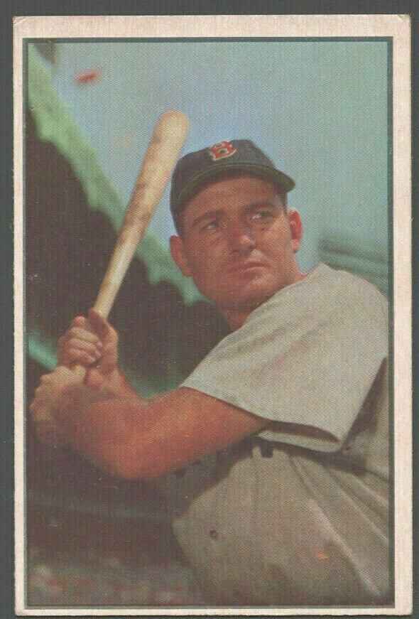 Boston Red Sox George Kell 1953 Bowman Color Baseball Card 61 vg/ex