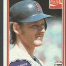 Boston Red Sox Carney Lansford 1981 Topps Coca Cola Coke Baseball Card 6 nr mt